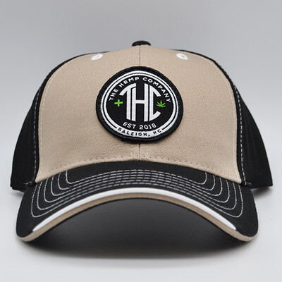 THC Baseball Cap - Black & Tan