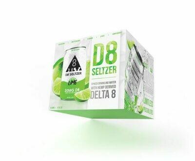 Delta 8 Seltzer 4 Pack - Lime