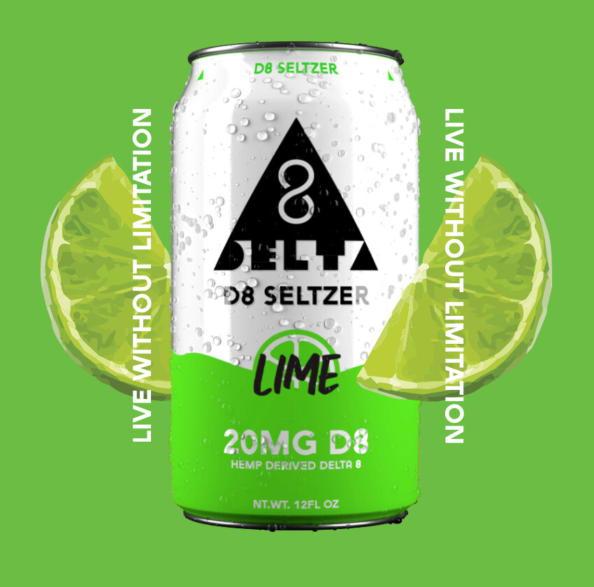 Delta 8 Seltzer - Lime   20mg