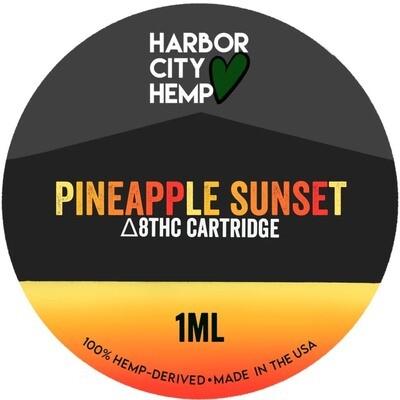 Harbor City Hemp Delta 8 vape 1ml Pineapple Sunset