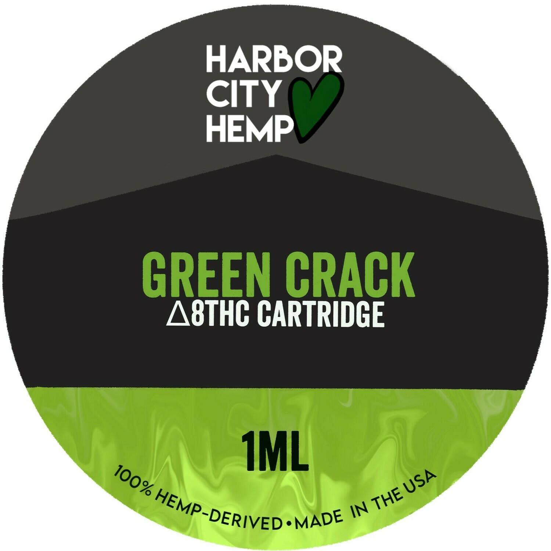 Harbor City Hemp Delta 8 vape 1ml Green Crack