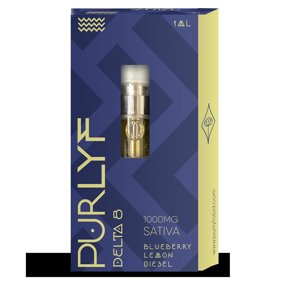 PurLyf Delta 8 vape 1ml - Blueberry Lemon Diesel