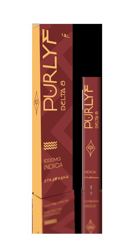 PurLyf Delta 8 Disposable 1ml - Strawnana
