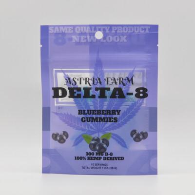 Delta 8 Blueberry 300mg Gummies, 10 pack