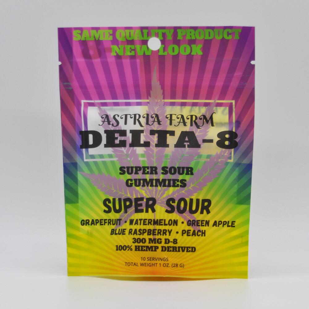 Delta 8 Super Sour Gummies 300mg