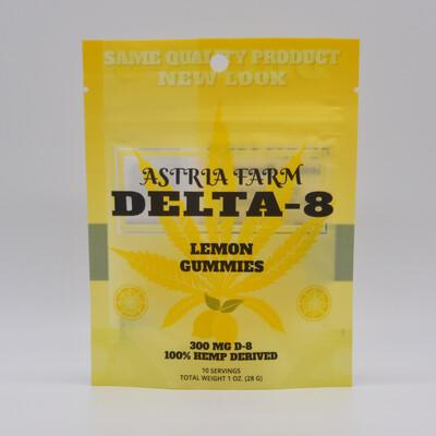 Delta 8 Lemon 300 mg Gummies, 10 pack