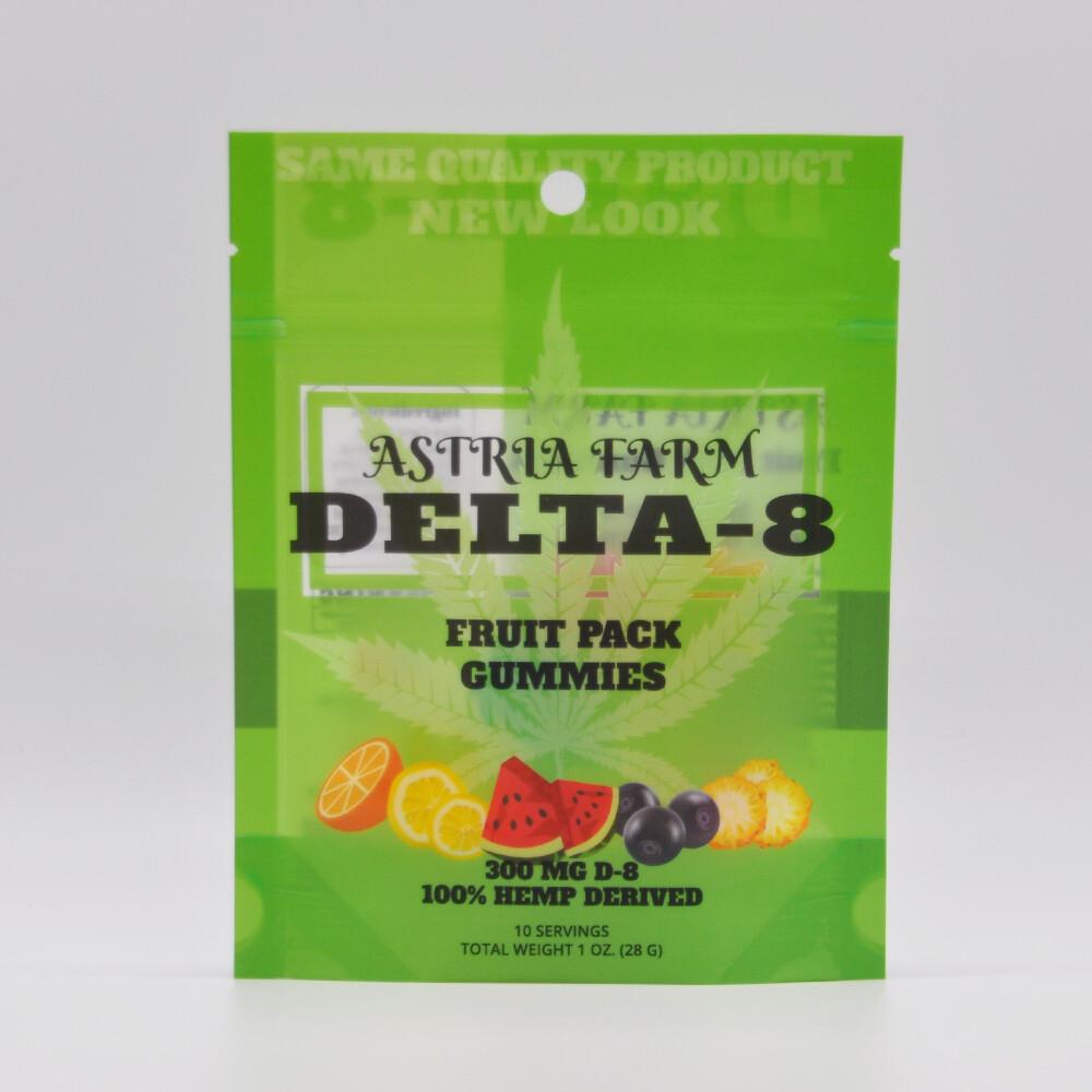 Delta 8 Fruit Mix 300mg Gummies, 10 pack
