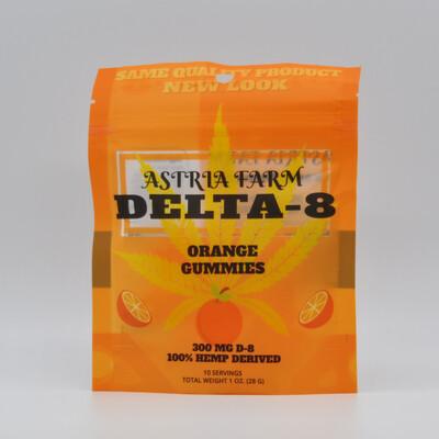 Delta 8 Orange 300 mg Gummies, 10 pack