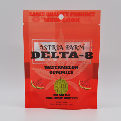 Delta 8 Watermelon 300 mg Gummies, 10 pack