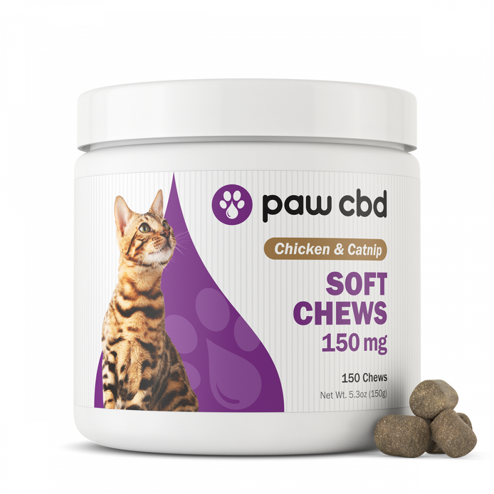 Paw CBD Soft Chews For Cats 150mg, 150ct.