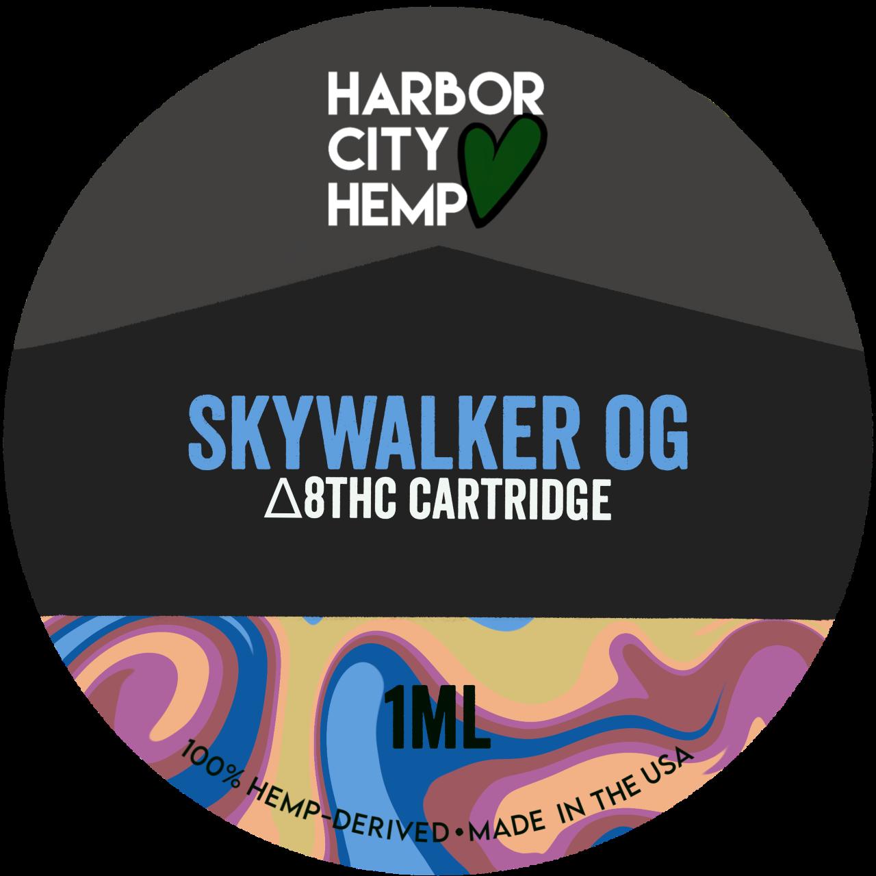 Harbor City Hemp Delta 8 vape 1ml Skywalker OG