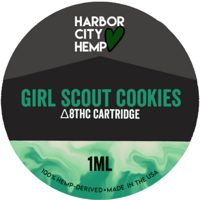 Harbor City Hemp Delta 8 vape 1ml Girl Scout Cookies