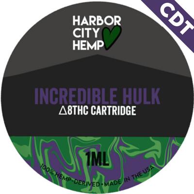 Harbor City Hemp Delta 8 vape 1ml Incredible Hulk
