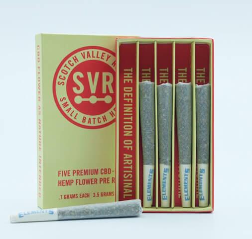 SVR Delta 8 Prerolls - 5 pack