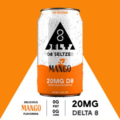 Delta 8 Seltzer - Mango, 4 pack