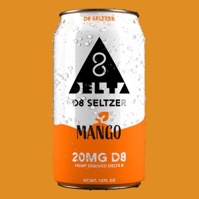 Delta 8 Seltzer - Mango 20mg
