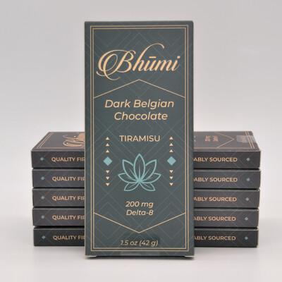 Delta 8 Tiramisu Dark Chocolate 200mg Bar