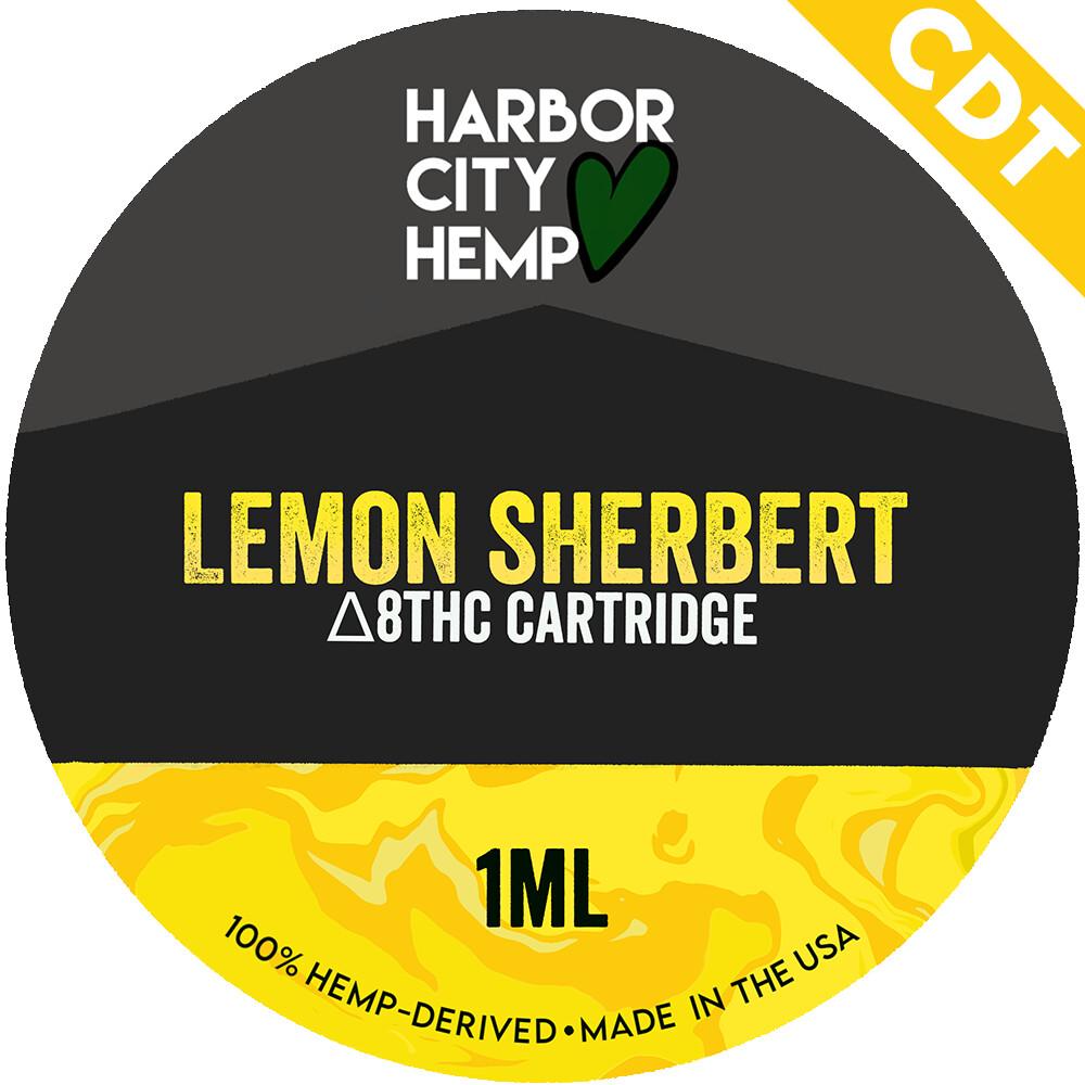 Harbor City Hemp Delta 8 vape 1ml Lemon Sherbert