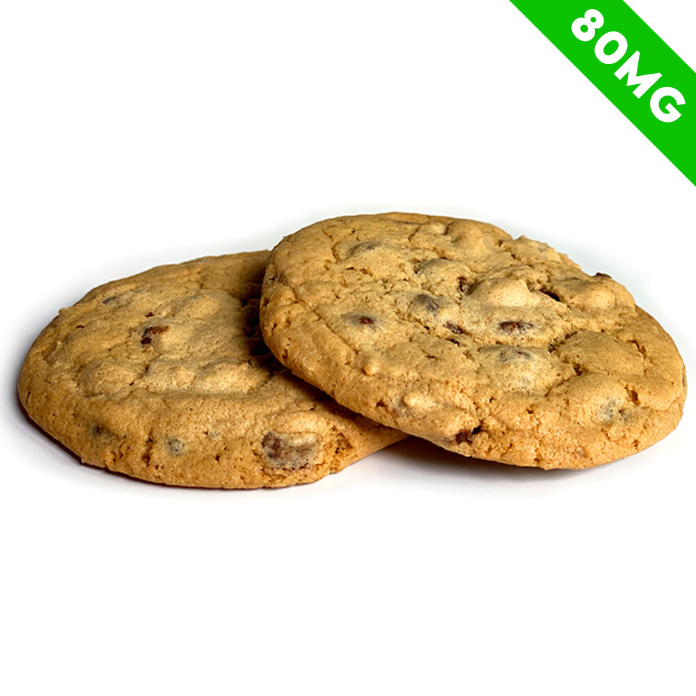 Delta 8 Infused Chocolate Chip Cookies (2 Pack), 80 mg