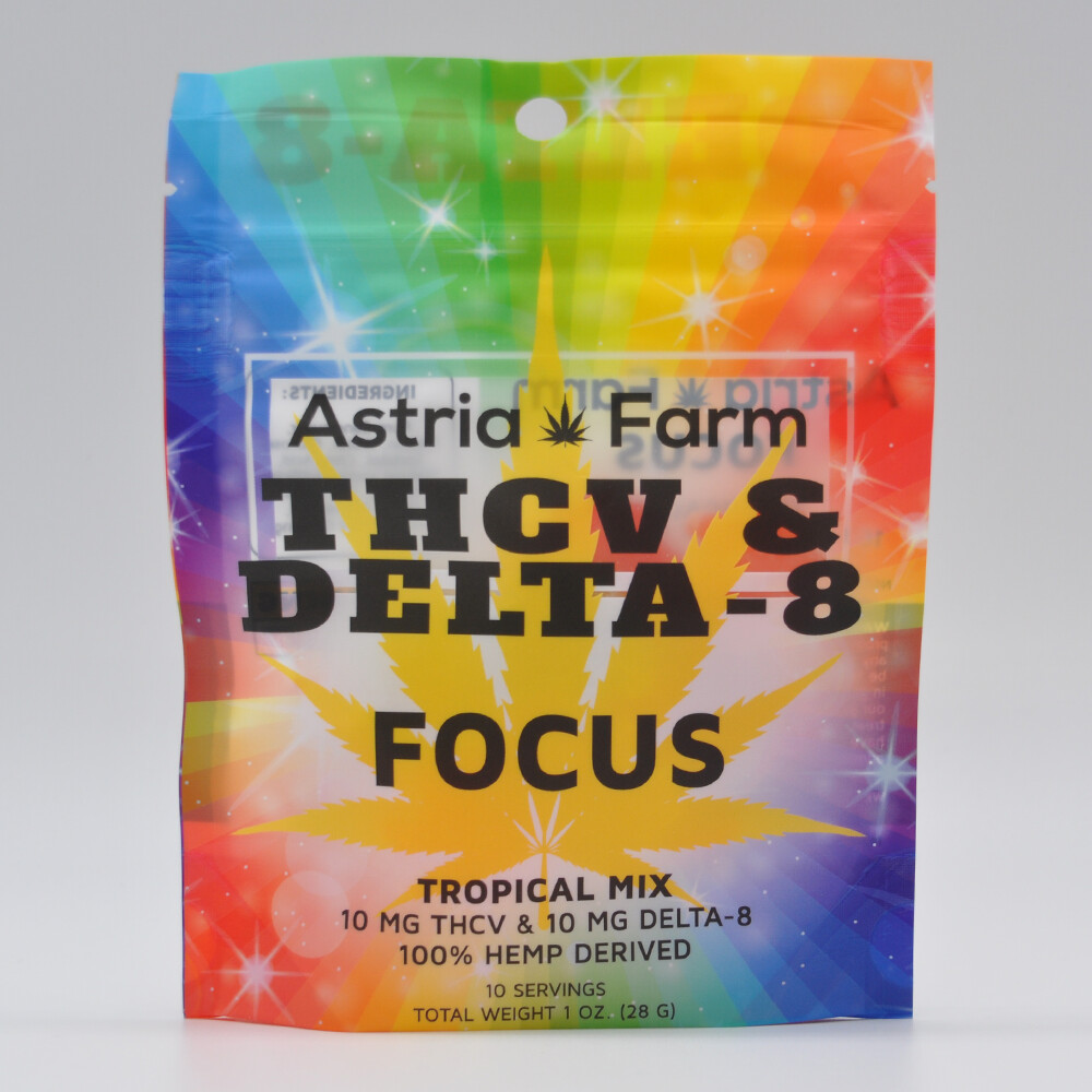Delta 8 & THCV Focus Gummies, 20mg