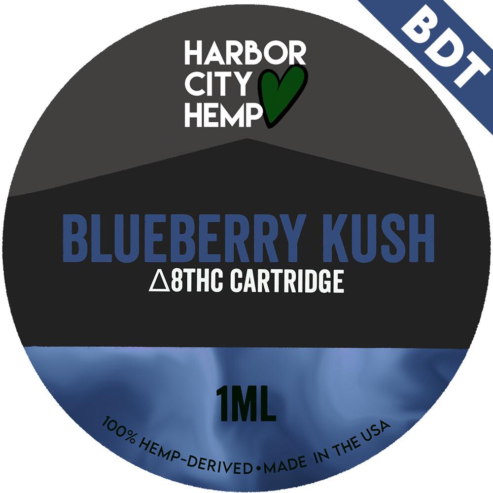 Harbor City Hemp Delta 8 vape 1ml Blueberry Kush