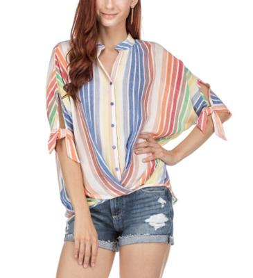 Multi-Stripe Blouse