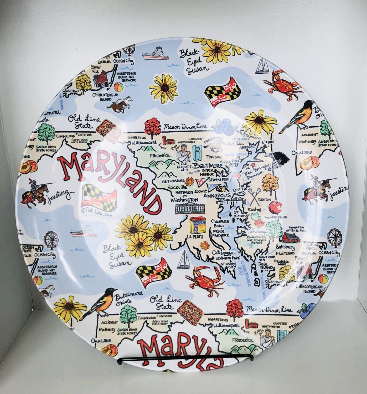Maryland Map Plate