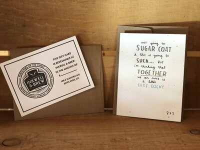 Kit - $20 Gift card & greeting card (styles vary)