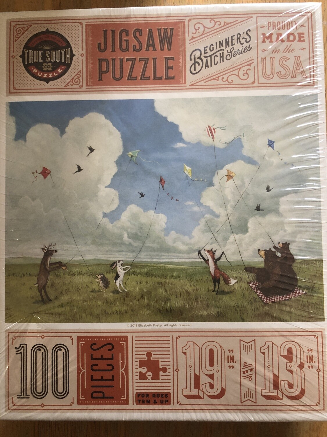 100 piece animals flying kites puzzle