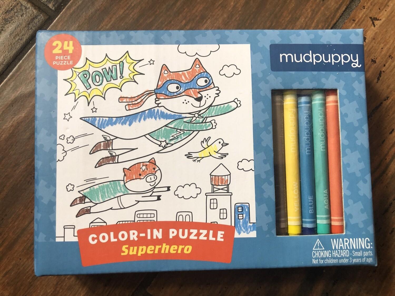 Superhero Color In Puzzle