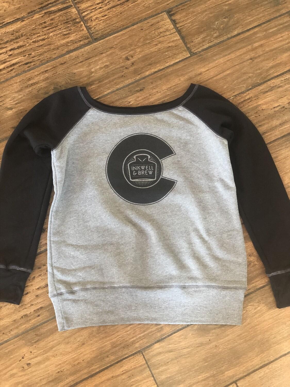 Inkwell off-shoulder sweatshirt