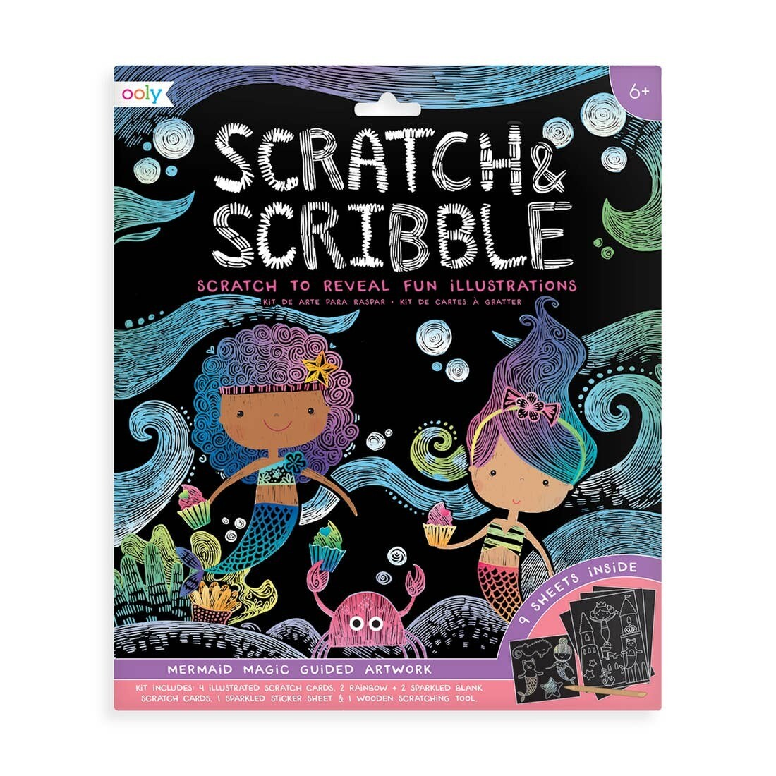 Scratch Scribble Mermaids
