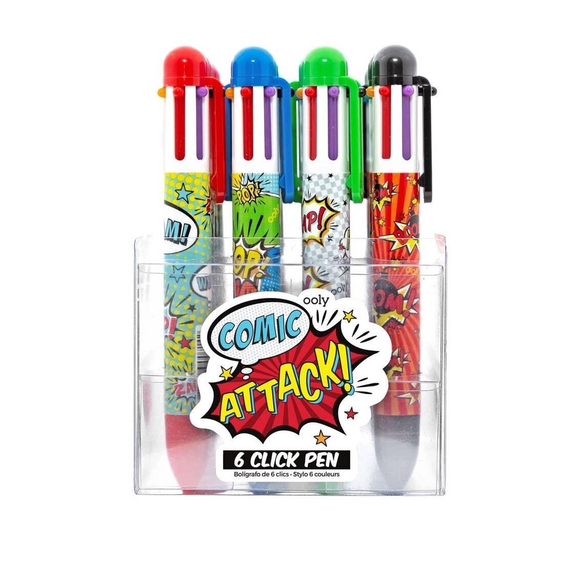 6 click pen, Comic Attack
