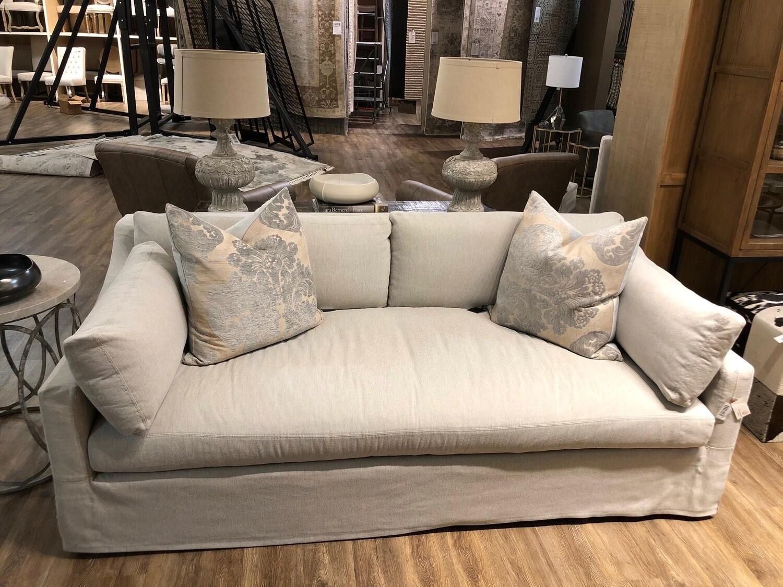 1-U88 DU14 Slip Cover Sofa in Twill Linen 84