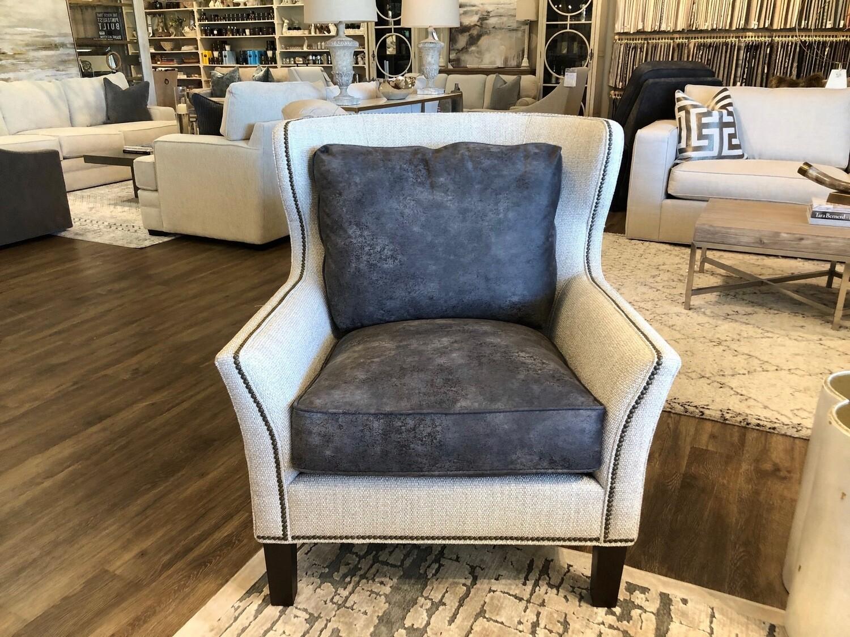 White/Charcoal Chair