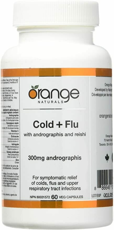 Cold + Flu with andrographis + reishi (60 v-caps) | CanPrev