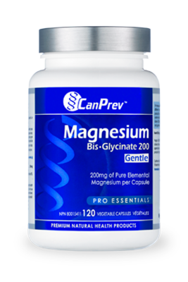 Magnesium Bis Glycinate 200 Gentle (120 v-caps) | CanPrev