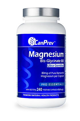 Magnesium Bis Glycinate 80 Ultra Gentle (240 v-caps) | CanPrev