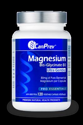 Magnesium Bis Glycinate 80 Ultra Gentle (120 v-caps) | CanPrev