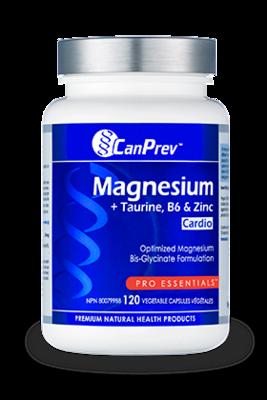 Magnesium + Taurine + B6 + Zinc for Cardio (120 v-caps) | CanPrev