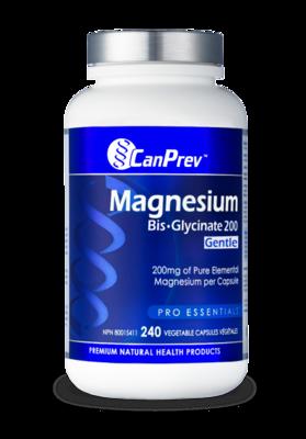 Magnesium Bis Glycinate 200 Gentle (240 v-caps) | CanPrev