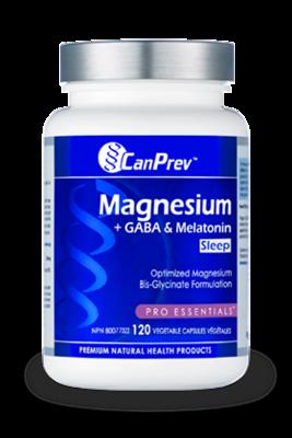 Magnesium + GABA + Melatonin for Sleep (120 v-caps) | CanPrev
