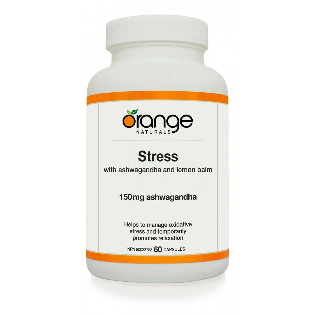 Stress with Ashwagandha 150mg (90 caps) | Orange