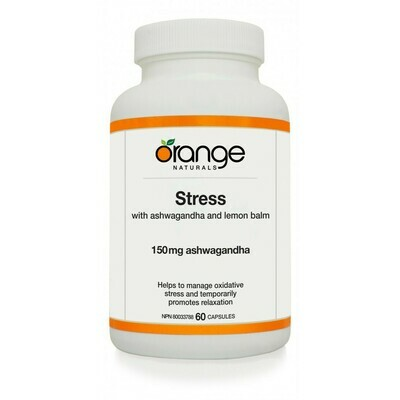 Stress with Ashwagandha 150mg (90 caps)   Orange