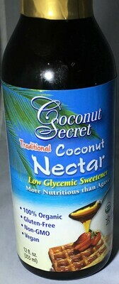 Coconut Secret Coconut Nectar- 15% off sale