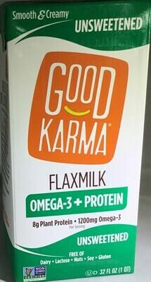 Good Karma 32oz Flax Milk Aseptic