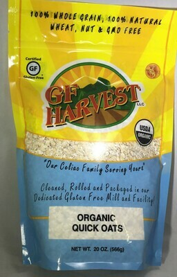 GF Harvest Organic Quick Rolled Oats 20oz