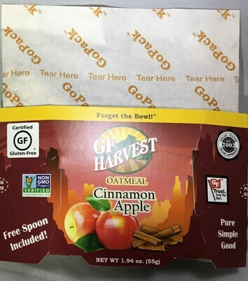 GF Harvest Oatmeal Go-Packs- 50% off Cinn-Apple