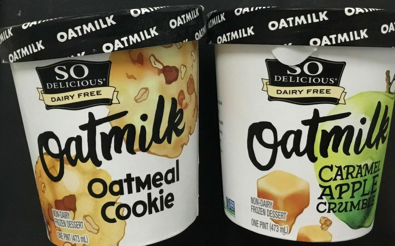 So Delicious Oatmilk Icecream pint- 15% off sale