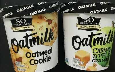 So Delicious Oatmilk Icecream pint- 15% off sale